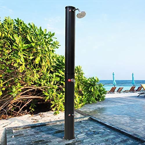 CCLIFE Ducha de Jardín 35 litros Ducha Solar con Agua Caliente Ducha Exterior Jardin, Color:Negro