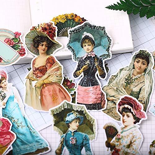 YYSDD Pegatinas de Personajes victorianos, Pegatinas de Papel de Handsom, Pegatinas Decorativas para Manualidades y álbumes de Recortes, papelería Encantadora DIY