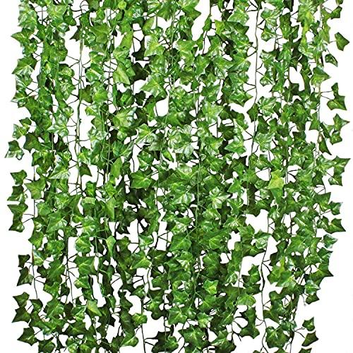 Plantas Hiedra Artificial Decoración Interior y Exterior - YQing...