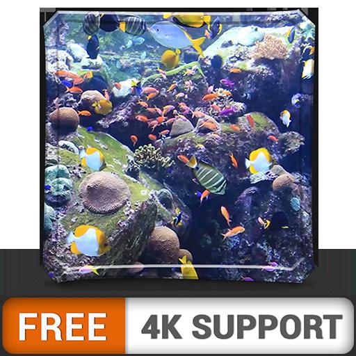 Acuario HD de belleza acuática gratis: decora tu habitación con un...