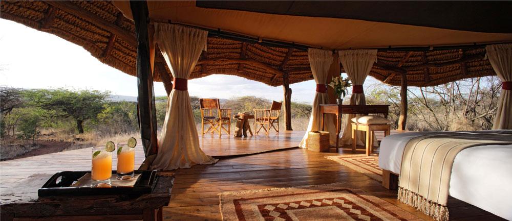 Decoración estilo africana en interior