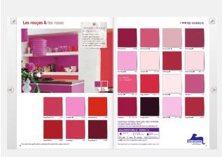 carta de colores interactiva de las pinturas Dulux Valentine.  haga clic en un color para elegir su armonía