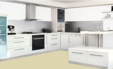 Para elegir fácilmente el color de pintura para repintar sus muebles de cocina, el salpicadero, la encimera y el de las paredes con la gama Rénov'Cuisine de Syntilor, es posible verlos online en la web de la marca ya que esta pintura es multimedia para cocina