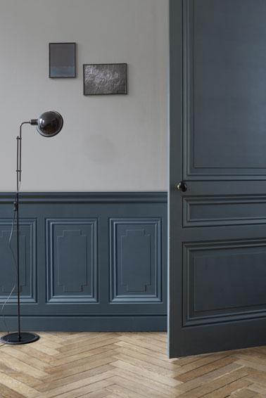 ¡Ambiente elegante gracias a esta pintura de efecto metálico con recubrimiento de polvo en color azul cosmos!  ¡Una decoración ultra chic para refrescar tu interior!