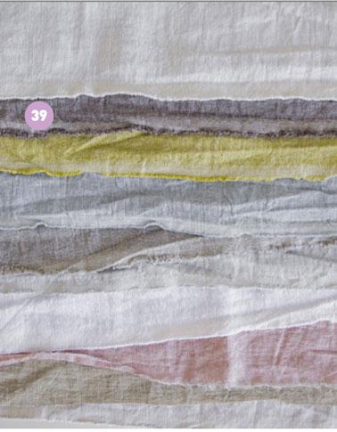 Color de las cortinas del dormitorio.Tejido 100% lino en tonos pastel para realizar cortinas o marquesinas