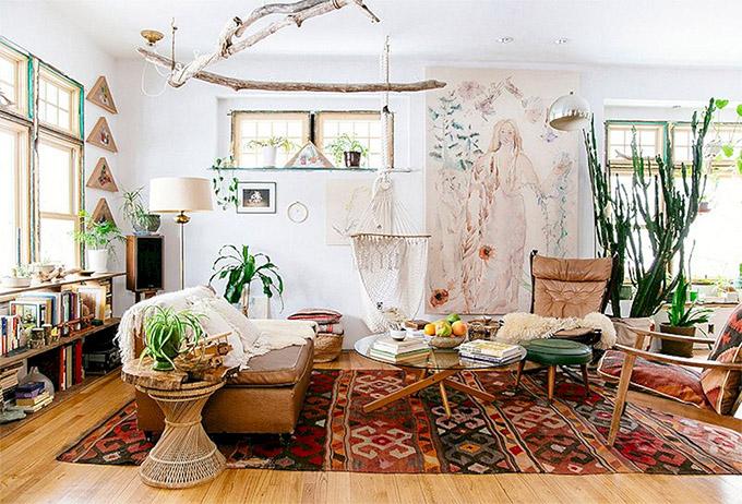 Casa con estilo y decoración bohemia