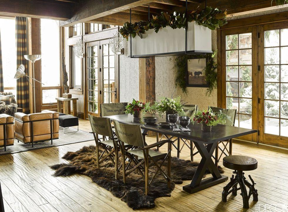 decoración de estilo rústico de interior para el hogar