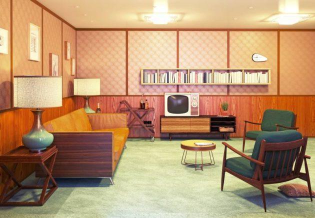 decoración de hogar de estilo retro para tu hogar