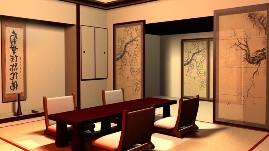 decoración de interior estilo Japones para el hogar