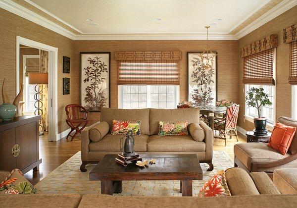 decoración de interior estilo oriental para hogar