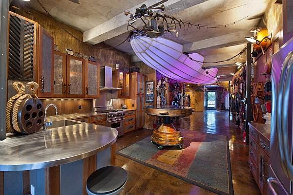 decoración estilo steampunk para interior para hogar
