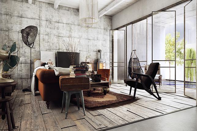 estilo industrial para decoración de hogar