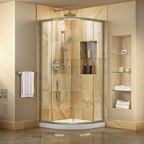 mamparas de ducha de vidrio y resina para el baño