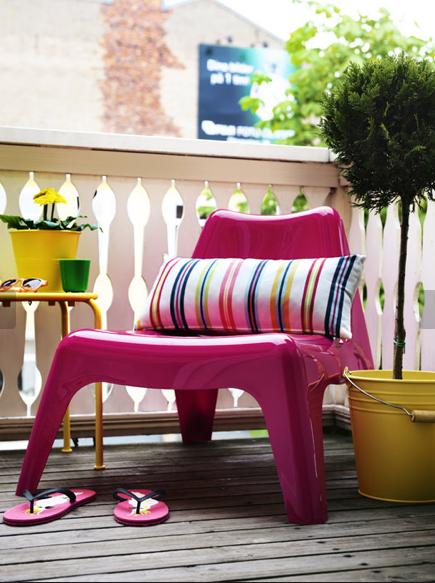 sillón bajo para balcón y terraza