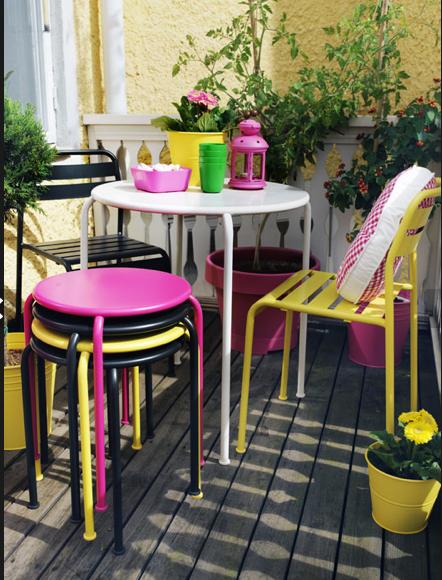 muebles de jardín para espacios reducidos