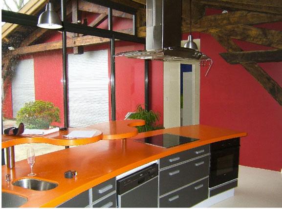 Encimera de cocina de Corian, amplia gama de colores, alta resistencia a los golpes y al calor