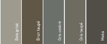 5 colores para pintar un deck de madera: Madera gris, Marrón topo, Gris Ombré y Moka de V33