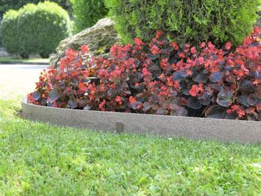 ¡Déjese tentar por un borde de madera de imitación ultra natural que es fácil de instalar para definir muy bien un macizo de flores y el césped en el jardín!