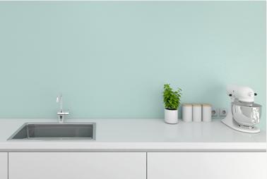 Pintura de cocina monocapa con acabado plástico disponible en 6 colores.  Posibilidad de acabado liso o moteado