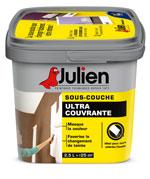 La capa de fondo ultra-cubriente de Julien es ideal para cubrir una pintura de color oscuro antes de aplicar un nuevo color de pintura.