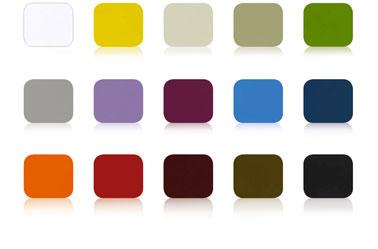 Pintura de hierro para muebles de jardín y soporte de hierro exterior.  Carta de colores 15 colores de pintura de hierro V33 Idéco