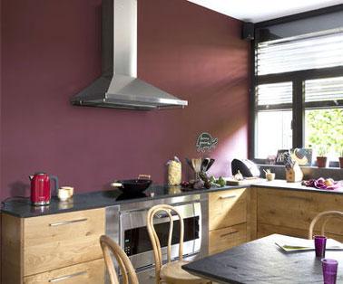 Protect'Activ paint Lucerne color de V33 en la placa para salpicaduras de la cocina para una protección intensa contra las manchas de grasa.  Una pintura de cocina especial lavable V33