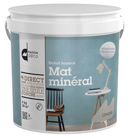 Recubrimiento mineral con efecto matizado, disponible en 9 colores naturales, envase: tarro de 6 kg.