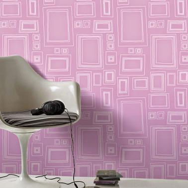 ¡Rosa y gris una unión impecable para la decoración de la casa!  Papel pintado Graham & Brown Frames