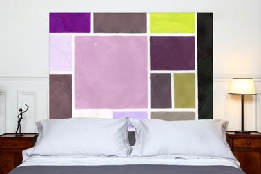 Cabecero de cama con patrón de polvo de algodón de lino metis dimensión: 160x140 cm Mademoiselle Tiss