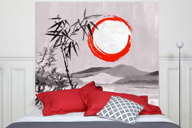 Cabecero en tejido mixto lino algodón patrón: Sous La Lune, tamaño: 160x140 cm Mademoiselle Tiss