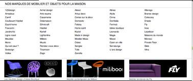 Catálogo de muebles de las grandes marcas del diseño del software gratuito de arquitectura 3D Insidoo