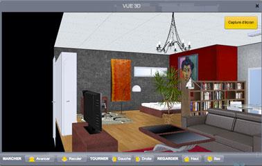 Visualización 3d del proyecto de decoración de la sala de estar desde el software de arquitectura en línea gratuito