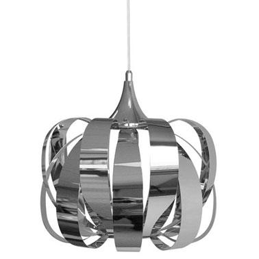 Esta lámpara de diseño para el salón tiene alma.  Su estilo único, sus dimensiones y su material: el cromo aporta cierta modernidad a la estancia en un instante.