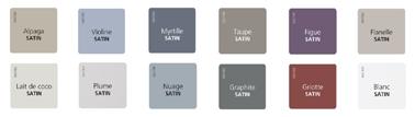 Carta de colores 12 colores de pintura Renovación de paneles barnizados y paneles de PVC de V33