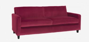 Sofá Chester de 3 plazas de terciopelo rosa fucsia de Habitat