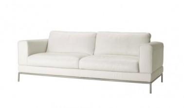 Sofá de 2 plazas de cuero blanco Arild en Ikea