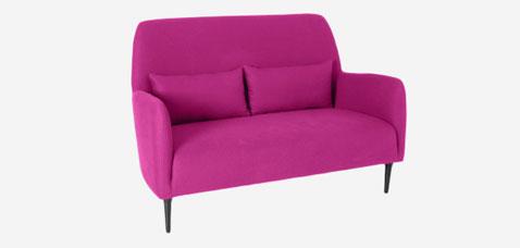 Sofá 2 plazas de tela rosa fucsia modelo Daborn chez habitat