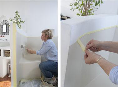 Después de la segunda capa de pintura Hydroactiv V33, retire las cintas protectoras antes de que la pintura se haya secado por completo.