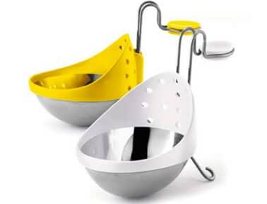 Cazador furtivo de huevos de acero inoxidable y silicona.  Se vende en juegos de 2 piezas.  Cuisipro