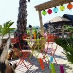 muebles de jardín para terrazas, sillas de balcón y jardín, tumbonas y luces