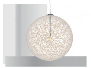 Suspensión de bolas de cuerda, iluminación artesanal vintage.