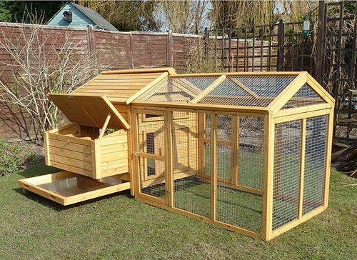 gallineros de madera para jardín