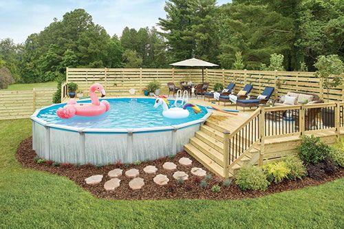 piscina desmontable de diseño para el jardín