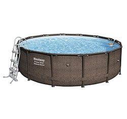 piscinas desmontables de ratán