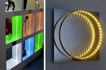 Iluminación LED indirecta para un ambiente agradable en la sala de estar