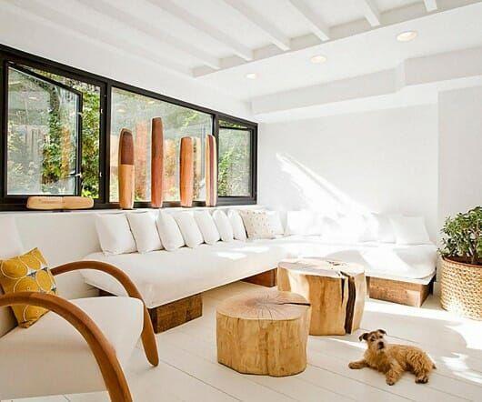 sala de estar interior sostenible