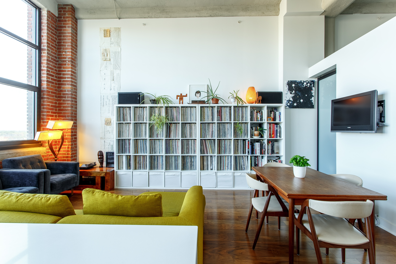 Sala de estar casa de apartamentos