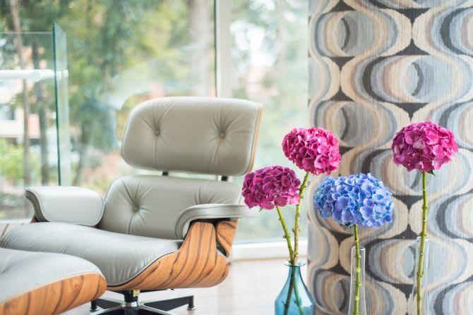 Muebles de sala de flores