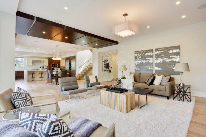Sala de estar y cocina estilo loft