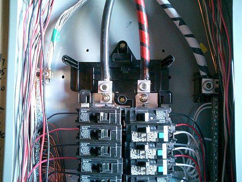 panel eléctrico del disyuntor